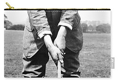 Carry-all Pouch featuring the photograph Harry Vardon Displays His Overlap Grip by International  Images