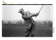 Carry-all Pouch featuring the photograph Harry Vardon Swinging His Golf Club by International  Images