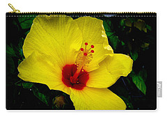 Hawaiian Yellow Hibiscus Carry-all Pouch by Athena Mckinzie