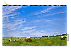 Hay Bales Under Brilliant Blue Sky Carry-all Pouch
