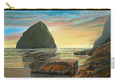 Haystack Kiwanda Sunset Carry-all Pouch by Chriss Pagani