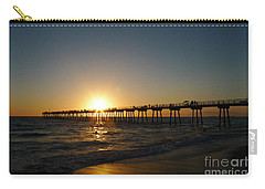 Carry-all Pouch featuring the photograph Hermosa Beach Sunset by Nina Prommer