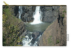 Carry-all Pouch featuring the photograph High Falls Grand Portage by Bonfire Photography
