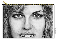Hilary Swank In 2007 Carry-all Pouch by J McCombie
