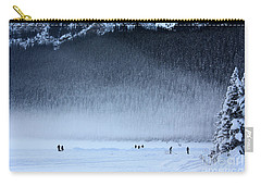 Carry-all Pouch featuring the photograph Hockey On Lake Louise by Alyce Taylor