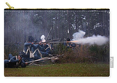 Carry-all Pouch featuring the photograph Holding The Line by Myrna Bradshaw