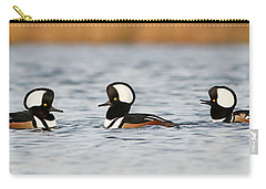 Hooded Mergansers Carry-all Pouch by Mircea Costina Photography