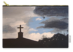 Carry-all Pouch featuring the painting Hope In The Storm by Norm Starks