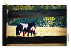 Carry-all Pouch featuring the photograph Horse Photography by Peggy Franz