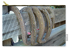 Horse Shoes Carry-all Pouch by Kerri Mortenson