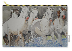 Horses Thru Water Carry-all Pouch