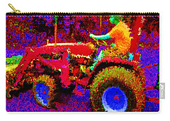 Carry-all Pouch featuring the photograph Hot Afternoon On A John Deere Tractor by George Pedro