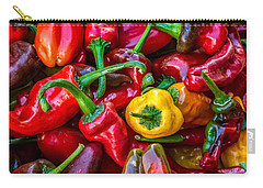 Carry-all Pouch featuring the photograph Hot Pepper Time by Ken Stanback