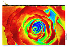 Hot Rose Carry-all Pouch by Paul  Wilford