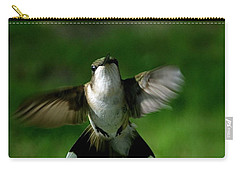 Hovering Hummingbird  Carry-all Pouch by Sue Stefanowicz