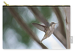 Carry-all Pouch featuring the photograph Hummingbird by Donna  Smith