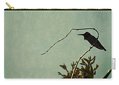 Hummingbird On Winter Wisteria Carry-all Pouch