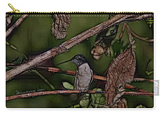 Carry-all Pouch featuring the photograph Hummingbird Waiting For Dinner by EricaMaxine  Price