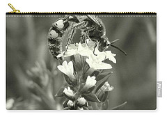 Hunter Wasp On Heliotrope Carry-all Pouch
