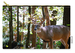 Carry-all Pouch featuring the photograph Hunters Dream 10 Point Buck by Peggy Franz
