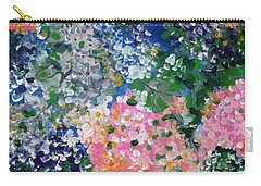 Carry-all Pouch featuring the painting Hydrangeas I by Alys Caviness-Gober