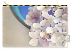 Hydrangeas In Blue Bowl Carry-all Pouch by Lyn Randle