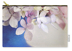 Hydrangeas In Deep Blue Vase Carry-all Pouch by Lyn Randle