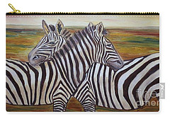 Carry-all Pouch featuring the painting I Think Its This Way by Julie Brugh Riffey