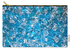 Ice Blues Carry-all Pouch by Beth Saffer