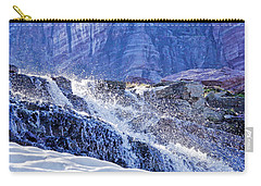 Carry-all Pouch featuring the photograph Icy Cascade by Albert Seger