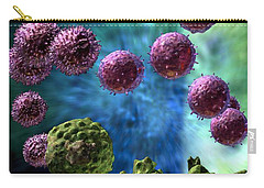 Carry-all Pouch featuring the digital art Immune Response Cytotoxic 3 by Russell Kightley
