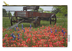 Indian Paintbrush And Wagon Carry-all Pouch