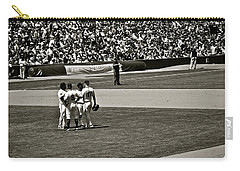 Carry-all Pouch featuring the photograph Infield Meeting by Eric Tressler
