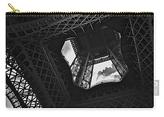 Carry-all Pouch featuring the photograph Inside The Eiffel Tower by Eric Tressler