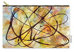 Inverno Abstract Watercolor Carry-all Pouch by Chriss Pagani