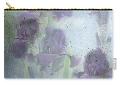 Iris In The Spring Rain Carry-all Pouch by Diane Schuster