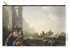 Italian Peasants Among Ruins Carry-all Pouch
