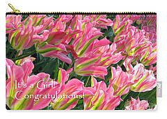 Carry-all Pouch featuring the photograph It's A Girl. Congratulations by Ausra Huntington nee Paulauskaite