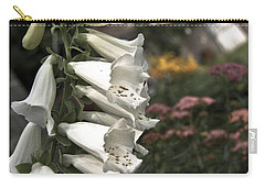 Ivory Foxglove Carry-all Pouch