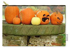 Carry-all Pouch featuring the photograph Jack-0-lanterns by Lainie Wrightson