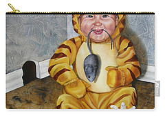 Carry-all Pouch featuring the painting James-a-cat by Lori Brackett