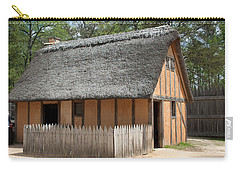Jamestown Hut Carry-all Pouch by Karen Harrison