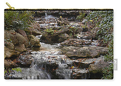 Waterfall In The Japanese Gardens, Ft. Worth, Texas Carry-all Pouch