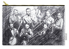 Jean Goldkette Orchestra 1926 Carry-all Pouch by Mel Thompson