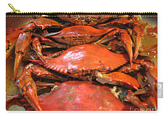 Crab Dinner Ocean Seafood  Carry-all Pouch by Susan Carella