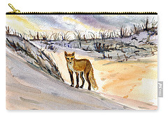 Carry-all Pouch featuring the painting Jersey Shore Fox by Clara Sue Beym