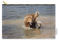 Carry-all Pouch featuring the photograph Jesse And Gremlin Sharing by Jeannette Hunt