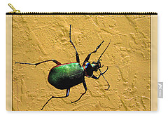 Carry-all Pouch featuring the photograph Jeweltone Beetle by Debbie Portwood