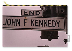 Carry-all Pouch featuring the photograph Jfk Street by Bill Owen