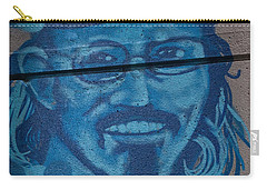 Carry-all Pouch featuring the digital art Johnny On The Wall by Carol Ailles